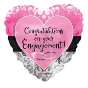 "CONGRATULATIONS ON YOUR ENGAGEMENT BALLOON  18"" 15159-18"